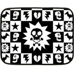 Gothic Punk Skull Double Sided Fleece Blanket (Mini)