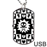 Gothic Punk Skull Dog Tag USB Flash (Two Sides)