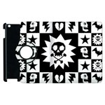 Gothic Punk Skull Apple iPad 3/4 Flip 360 Case