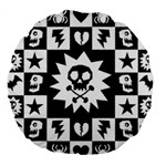 Gothic Punk Skull Large 18  Premium Round Cushion