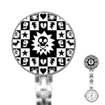 Gothic Punk Skull Stainless Steel Nurses Watch