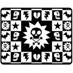 Gothic Punk Skull Double Sided Fleece Blanket (Medium)