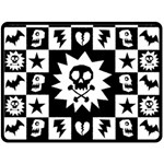 Gothic Punk Skull Double Sided Fleece Blanket (Large)