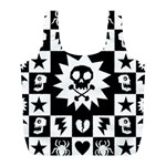 Gothic Punk Skull Full Print Recycle Bag (L)