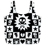 Gothic Punk Skull Full Print Recycle Bag (XL)