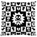 Gothic Punk Skull Large Flano Cushion Case (Two Sides)