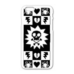 Gothic Punk Skull iPhone 6/6S White Enamel Case