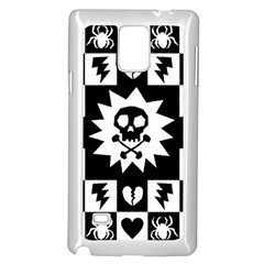 Gothic Punk Skull Samsung Galaxy Note 4 Case (White) from ArtsNow.com Front