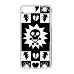 Gothic Punk Skull iPhone 7 Plus Seamless Case (White)