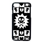 Gothic Punk Skull iPhone 7 Seamless Case (Black)