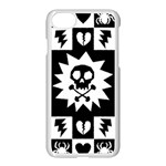 Gothic Punk Skull iPhone 7 Seamless Case (White)