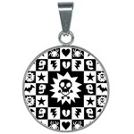 Gothic Punk Skull 25mm Round Necklace
