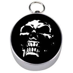 Morbid Skull Silver Compass from ArtsNow.com Front
