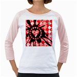 Love Heart Splatter Girly Raglan