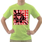 Love Heart Splatter Green T-Shirt