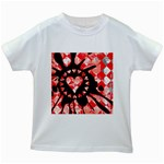 Love Heart Splatter Kids  White T-Shirt