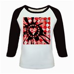 Love Heart Splatter Kids  Baseball Jersey