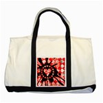 Love Heart Splatter Two Tone Tote Bag