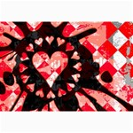 Love Heart Splatter Canvas 12  x 18