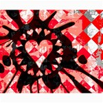 Love Heart Splatter Canvas 16  x 20
