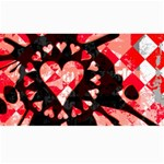 Love Heart Splatter Canvas 40  x 72