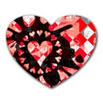 Love Heart Splatter Heart Mousepad