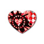 Love Heart Splatter Rubber Heart Coaster (4 pack)