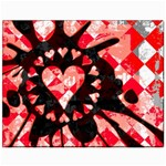 Love Heart Splatter Canvas 11  x 14