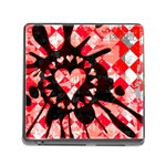 Love Heart Splatter Memory Card Reader (Square 5 Slot)