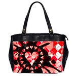 Love Heart Splatter Oversize Office Handbag (2 Sides)