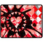 Love Heart Splatter Fleece Blanket (Medium)