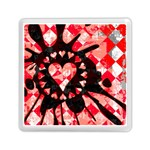 Love Heart Splatter Memory Card Reader (Square)