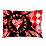 Love Heart Splatter Pillow Case (Two Sides)