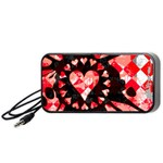 Love Heart Splatter Portable Speaker (Black)