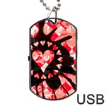 Love Heart Splatter Dog Tag USB Flash (Two Sides)