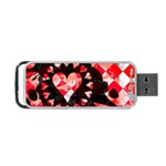 Love Heart Splatter Portable USB Flash (Two Sides)