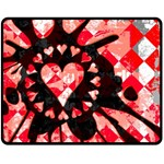 Love Heart Splatter Double Sided Fleece Blanket (Medium)