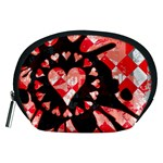 Love Heart Splatter Accessory Pouch (Medium)