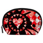 Love Heart Splatter Accessory Pouch (Large)