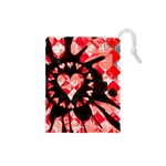 Love Heart Splatter Drawstring Pouch (Small)