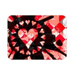 Love Heart Splatter Double Sided Flano Blanket (Mini)