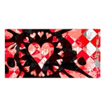 Love Heart Splatter Satin Shawl