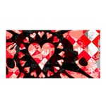 Love Heart Splatter Satin Wrap