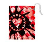 Love Heart Splatter Drawstring Pouch (XL)
