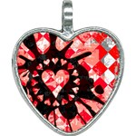 Love Heart Splatter Heart Necklace
