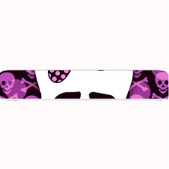 Pink Polka Dot Bow Skull Small Bar Mat from ArtsNow.com 24 x4  Bar Mat