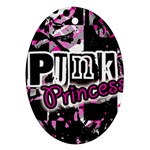Punk Princess Oval Ornament (Two Sides)