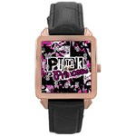 Punk Princess Rose Gold Leather Watch