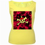 Punk Skull Princess Women s Yellow Tank Top from ArtsNow.com Front