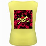 Punk Skull Princess Women s Yellow Tank Top from ArtsNow.com Back